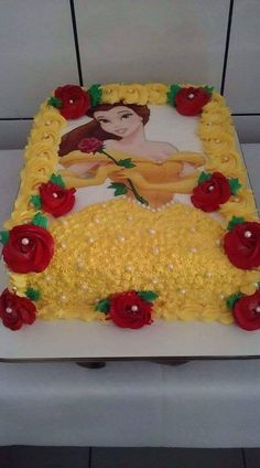 3 tier pastel princess cake with handmade rose – Artofit Belle Birthday Cake, Birthday Sheet Cakes, Disney Princess Birthday, Girl Birthday, Princess Belle Cake, Mermaid Birthday, 60th Birthday, Birthday Parties, Beauty And Beast Birthday