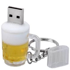 8GB USB 2.0 Beer Cup Design U Disk with Key Chain