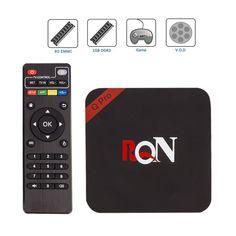 RQN Q Pro Android 5.1 Unlocked Tv Box RK3229 1080p Quad Core Smart Streaming Media Player, IPTV, OTT TV, Root, 4k, H.265