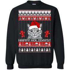 Christmas Ugly Sweater Cat Lover 1  Hoodies Sweatshirts