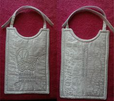 Front and back together - Mitchell's Christening Bib