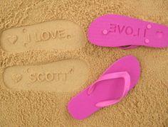 e0cbe3e2a640b7 Items similar to Custom Sand Imprint Flip Flops. Personalize With Your  Design. No Minimum Order Quantity  ) on Etsy