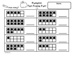 Worksheet Ten Frame Worksheets ten frame worksheets kindergarten thanksgiving missing addends tool