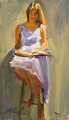 The Storyteller by Michelle Torrez Oil ~ x Figure Painting, Painting & Drawing, Wow Art, Reading Art, Portrait Art, Figurative Art, Painting Inspiration, Female Art, Sculpture Art