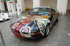 BMW 850 CSi painted by David Hockney