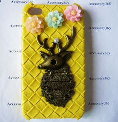 yellow hard skin case cover withVintage Bronze by braceletcool, $15.50