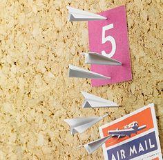 Paper Airplane Pushpins…