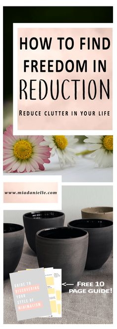 The #freedom that lies in #reduction! #Reduce #clutter in your life. Everyone has some ability to choose their #bondage but we also can reduce our bondage. Click through--->