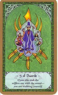 rumi tarot - five of swords