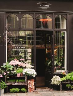 storefront of fleur, a london flower shop