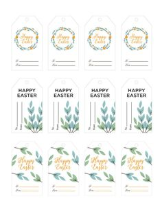 Gift tags herb tags botanical tags printable instant download easter tags instant download set of 12 tags floral tags gift tags negle Gallery