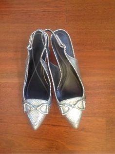 5cceb44d9dd Zapatos tacón plateados. Zapatos tacón plateados de segunda mano por ...