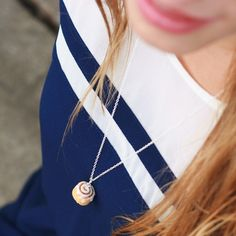 Scented Cinnamon Roll Necklace