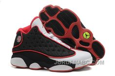 Cheap Air Jordan 13 (XIII) Retro Black-White/Varsity Red