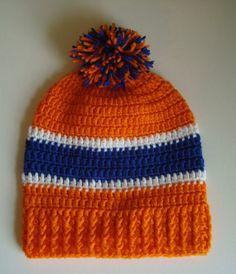 Denver Broncos Crochet Slouch Hat Beanie for by SuperCrochetMom, $19.95