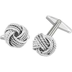 Knot Cufflinks in Gold and Silver (Rhodium Plating) Vintage Cufflinks, Silver Color, Knots, Plating, Bracelets, Earrings, Gold, Stuff To Buy, Jewelry
