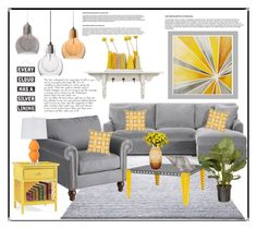"""""""Sunshine on a Cloudy Day"""" by hastypudding ❤ liked on Polyvore featuring interior, interiors, interior design, home, home decor, interior decorating, ESPRIT, Intelligent Design, Pier 1 Imports and Meccano"""