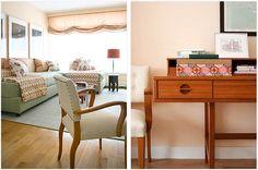 Carrier and Company | Portfolio: Tribeca Loft | Left: Living Room, Right: Desk Detail