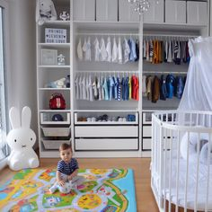Levent's Room Ikea Pax Nursery Child Room - Garderobe ideen Ikea Baby Room, Baby Nursery Closet, Ikea Kids Room, Ikea Nursery, Baby Boy Room Decor, Baby Room Design, Baby Boy Rooms, Nursery Room, Kids Bedroom