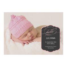 Geburtskarte Pink Baby Cards, Birth, Crochet Hats, Pink, Card Ideas, Design, Save The Date Cards, Children, Ideas