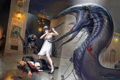 Illustration by Cynthia Sheppard for the Lovecraftian game Elder Sign