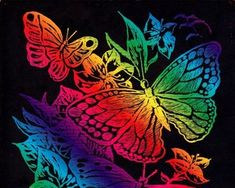 Wallpaper of Rainbow Butterflies for fans of Butterflies 39768497 Flowery Wallpaper, Rainbow Wallpaper, Butterfly Wallpaper, Wall Wallpaper, Wallpaper Backgrounds, Wallpaper Ideas, Phone Wallpapers, Butterfly Drawing, Butterfly Pictures