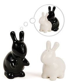 Bunny Love Salt and Pepper Shakers