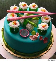 sushi cake. dibs on making this for Angela.