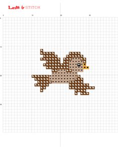 FREE bird cross stitch chart pattern Visit me on etsy at www.etsy.com/au/shop/leilaandstitch or find me on instagram leila.and.stitch :-)