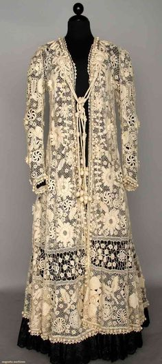 belle epoque coat | Belle Epoque Irish Lace Coat, C. 1900, Augusta Auctions, November 13 ...