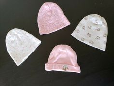 HUDSON BABY 100/% Combed Cotton Pink Bows 2 x Baby Girl Quality Caps 0-6 mths NEW