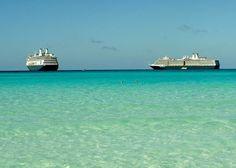 "Those ""dam"" ships--ms Amsterdam and ms Eurodam at Half Moon Cay"