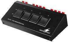 4-Way Switch Box haut-parleurs (SPS-40S): Boîte de commutation le haut-parleurs, pour connecter jusqu'à 4 paires de haut-parleurs (4-8Ω)…
