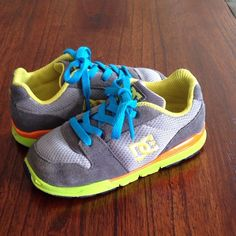 Little guy, lotta cool! We found these neon DC shoes while shopping on @Totspot App iPhone app. Download TotSpot from the App Store.