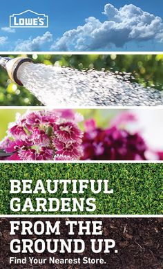 Want to improve your home's curb appeal or create an outdoor oasis in your backyard? Lowe's has everything you need to get the job done, from mulch and straw to patio pavers and gardening tools. Find your nearest Lowe's Garden Center today. Bottle Garden, Garden Projects, Country Gardening, Garden Nest, Gardening For Beginners, Planting Herbs, Diy Backyard, Beautiful Gardens, Gardening Tips