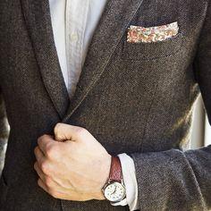gentleman-forever:  Herringbone Blazer facebook.com/GentlemanF