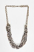 Urban Outfitters Knotted Rhinestone Necklace