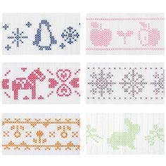 Cross-stitched tea towels Cross Stitch Designs, Cross Stitch Patterns, Knitting Patterns, Cross Stitch Bookmarks, Cross Stitch Embroidery, Needle And Thread, Charts, Hand Sewing, Needlework