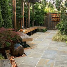 50  landscaping ideas with stone   Chic cut-stone walkway   Sunset.com