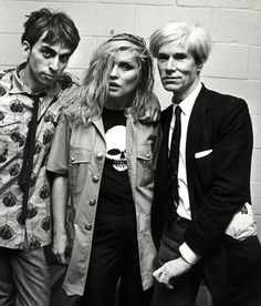 Debbie Harry, Chris Stein & Andy Warhol