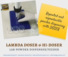Automate your powder dispensing with DOSER & HIDOSER: Because, repeated and reproducible weighing of powders manually in the lab is a tedious process http://www.powderdosing.info/specifications