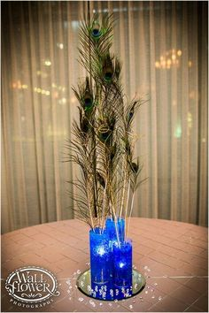 1920's centerpieces | Peacock centerpieces s beautiful part of my ... | 1920's Wedding Decor