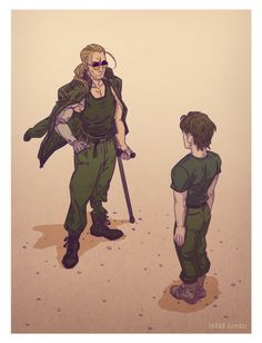 Kaz and Solid Snake