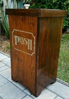 Painted Galvanized Trash Can I Love This Addition To My