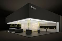 ERCO presents its expertise in retail lighting with LED technology at EuroShop in Düsseldorf. Exhibition Stand Design, Exhibition Room, Exhibition Display, Stand Feria, Expo Stand, Showroom Design, Lighting Showroom, Environmental Design, Stage Design