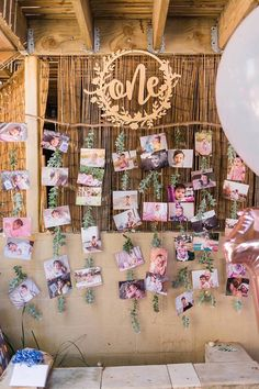 "Tropical Photo Wall from a ""Let's Flamingle"" Tropical Flamingo Birthday Party on Kara's Party Ideas 