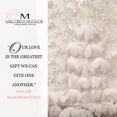 Love is a gift; when
