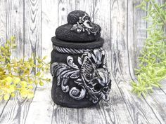 Bat Skull Apothecary Jar Potion Bottle / Wiccan Altar Clay Apothecary Bottle Gothic Home Decor Witchy Decor Goth Witch Pagan Gifts Pet Urn Apothecary Decor, Apothecary Bottles, Wiccan Decor, Wiccan Altar, Witch Jewelry, Pagan Jewelry, Pet Urns, Potion Bottle, Witch Aesthetic