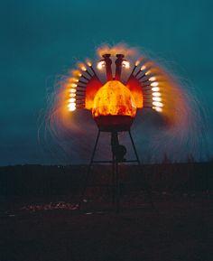 Firebird Nikoly Polissky Firebird, Land Art, Wind Turbine, Whimsical, Sculptures, Box, Flowers, Plants, Outdoor