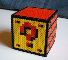 1ad4dc24a04f5 This question mark block has extended its form into the fabled third  dimension! This mysterious realm of depth is unexplored by either explorers  or Perler.